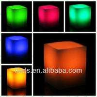 Special Occasions Rainbow Color energy saving paraffin wax led candle for wedding decoration