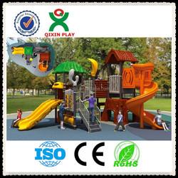 Custom kids play ground, outside play equipment, plastic playground/ QX-024C