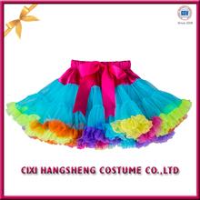 Many colors boutique stylish fashion tulle fluffy tutu dress for baby girls