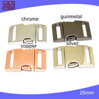 side release metal buckle,quick release buckle,metal strap bag clip buckle