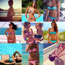Mode Bikini Swimwear Sexy Swim Suit Push Up Bra Underwear Set Triangle