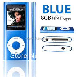 2014 NEW 1.8 Inch LCD Screen MP4 Mp3 Player Real 8GB Music Player FM Voice Recorder Ebook Video