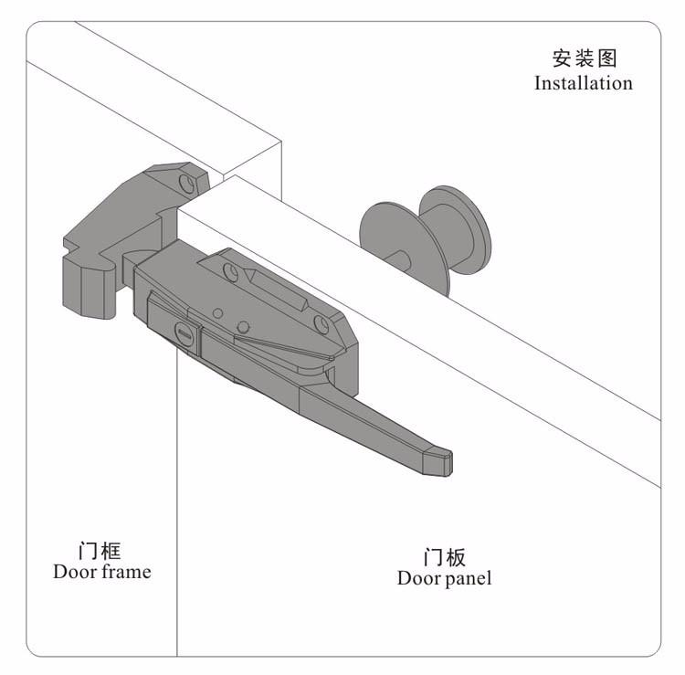 Chine top vente sk1 1178 r frig rateur porte poign e de verrouillage poign e de porte id de for Poignee chambre froide dagard