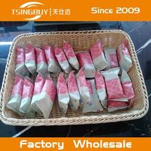 Professional artisan 100% woven plastic washable rattan bread basket gifts