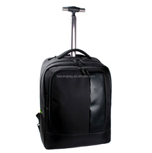 2015 BV approved factory durable black trolley backpack