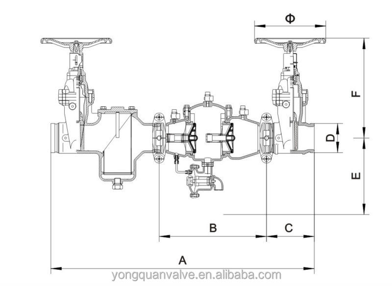 Backflow Preventer Dimensions Zone Backflow Preventer