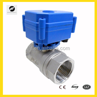 2-way 1/2'' 3/4'' 1'' CWX-15N electric stainless steel ball valve motorized control for drinking water equipment,water leakage