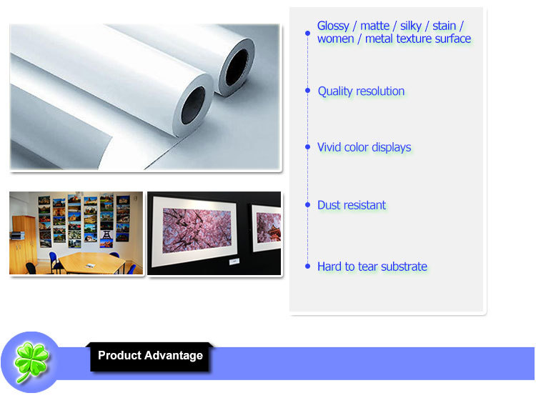 double sided high glossy satin inkjet photo paper for inkjet printing