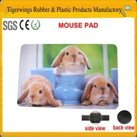 2015 fashionable fancy heart-shaped mouse pad with photo insert