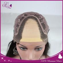 2015 wholesale indian u part human hair wig straight natural hair wig