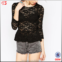 Alibaba wholesale products lace top fashion ladies crochet blouse
