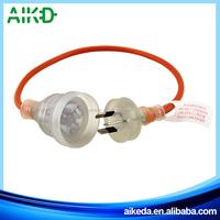 China supplier good quality 3 pin plug australia plug with power cable