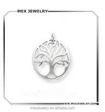 Sterling Silver Family Tree Plant Tree of Life Pendant Charm