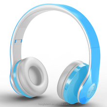 Colorful wireless bluetooth headphone women sports headset for tv with FM radio and TF card player BH519
