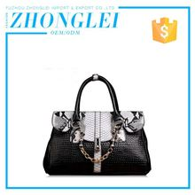Wholesale Price Custom Shape Printed Handbag Leather Bag Vintage