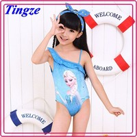 Wholesale high quality frozen elsa summer sexy kids swimwear for girls