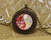 Vintage 70cm ball beaded chains classic china's yinyang photo glass cabochon dome pendant Necklace latest design beads necklace