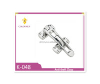 Zinc alloy anti-theft clasp with different finish for door