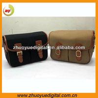 Men's mini camera bag bags korea vintage canvas with detachable pad camera protective shoulder bag