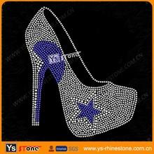 Wholesate High heels rhinestone heat transfer designs for T-shirt