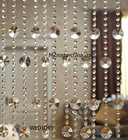 2015 IN STOCK decorative crystal hanging glass beads curtains for doors