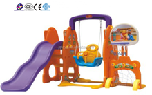 2015 Baby toy indoor children swing and slide and basketball