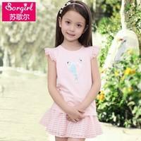 2015 bulk Wholesale Children Clothing USA Summer Tops Kids Shirt Factory