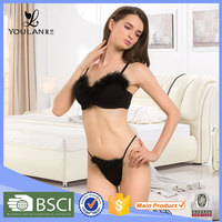 X-mas Hot Design Breathable Sexy Lady Spandex Fashion Sexy Girls Red Bra And Panty Set