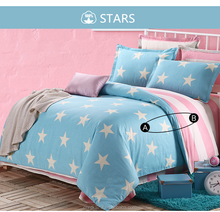 100% cotton fabric stars and stripe pattern printing bedding sheet set american design