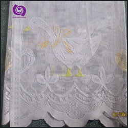 Hot Sale Fancy Printed Lace Kitchen Window Shower Curtain