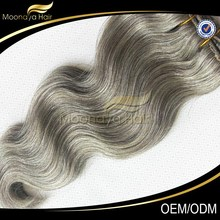 Gray hair weave Grey remy hair extensions Grey human hair weave