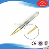 Point tip tweezers,golden tip tweezers,eyebrow tweezers