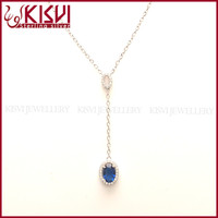 bead jewelry crystal blue heart necklace chicken wings shape pendant