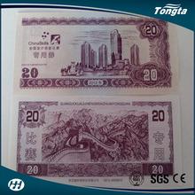 100% A4 cotton pulp fibre banknote cotton paper