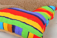 Home Rainbow 600D oxford colorful fashion pet seat cover Top-end dog cushion