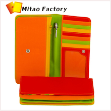 Italy Manufactory Magic Creative delicate Medium Matinee Purse Wallet with Multi-Card Holder Zipper Rainbow Series Mywalit purse