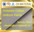 100% algodón como de tela de poliéster con PU vía láctea membrana