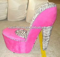 Fabric high heel shoe chair NO72R ( in stock)