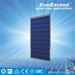 EverExceed 280w Polycrystalline Solar Panel warranted for 5 years with ISO/CE/IEC certificates