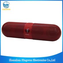 (JHW) Kingwon Wireless Bluetooth Pill Speaker with FM Radio, support TF Card, USB, mp3, mp4, PC, laptop, iPad, etc