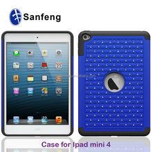 Bling shining back cover for ipad mini 4 smart tablet case / for ipad mini 4 hybrid protector case / for ipad mini 4 rubber case