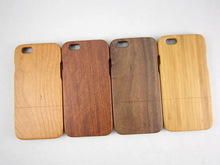 carbonized bamboo wood cell phone case for iphone6, upper and lower card phone case for iphone 6