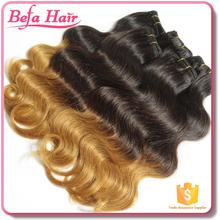 Befa Hair 2015 New Style remy human hair weft color 1b/27 brazilian vergin hair