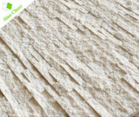Natural White Sands Creamed-colored Marble Stone Mosaic Tile Strip for Wall