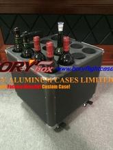Portable high quality 12 bottle aluminum lockable wine case