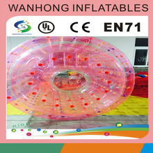 Hot rental inflatable water roller, PVC inflatable water walking roller ball for sale, low price inflatable water roller
