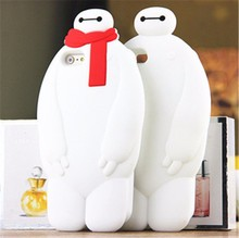 baymax 3D silicone cell phone cover baymax 3d case for iphone 5/5S/6/6 PLUS