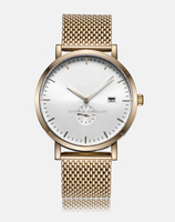 2015 stylish new design rose gold mesh band mvmt watches