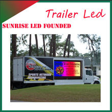 high quality mini outdoor led full color trailer display,audio advertising, heavy video free shipping Epistar chips Nova system