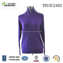 BLUE PHOENIX latest design knitted 100% cashmere women sweater